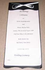 Black and White Wedding Ideas invitation