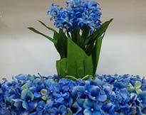 Wedding colors theme blue flowers