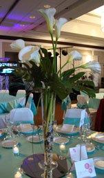 Calla Lily Centerpieces in vase