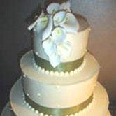 Calla Lily Wedding Invitations cake topper