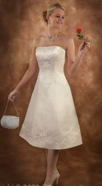 Tea Length Casual Beach Wedding Dresses