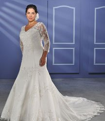Long Beautiful Cheap Plus Size Wedding Dresses