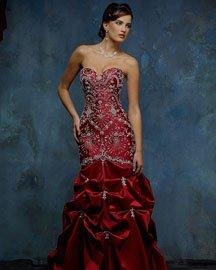 Mermaid red wedding dresses