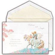 Cinderella theme wedding invitations