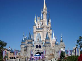 Cinderella theme wedding Cinderella's caslte in DisneyWorld