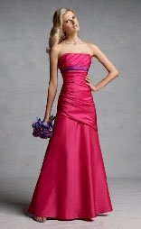Colored wedding dresses of deep pink