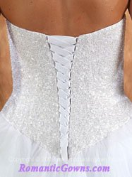 Corset wedding dresses that ties in the back