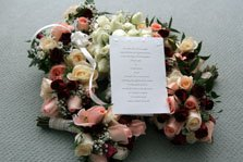 Creative wording for wedding invitations picture with flowers