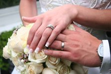 Diamond wedding theme wedding picture of couples rings