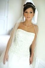 Diamond wedding theme of wedding dress with swarovski crystals