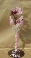 Engraved wedding gifts wine glasses