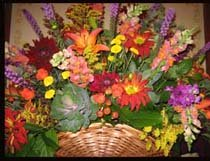 Mixed Basket of flowers for your reception centerpiece