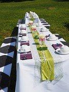 Outdoor wedding reception is a fabulous garden wedding idea