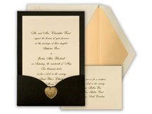 Black and orange wedding invitations are perfect for a Halloween wedding theme