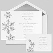 Snowflake wedding theme invitations