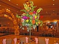 Wedding centerpiece with flowers