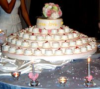 Wedding cake designs with cupcakes