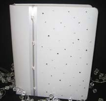 Bridal/guest book as a reception centerpiece