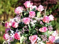 Beautiful Roses for a Reception centerpiece