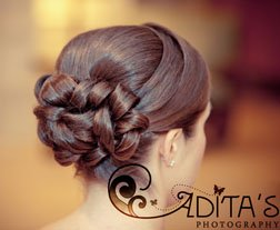 Wedding day hairstyles tied back