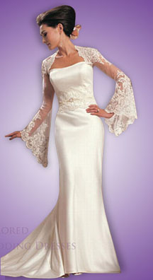 Form fitting wedding dresses with sleeves