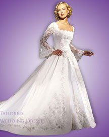 Wedding dresses with sleeves made with lace