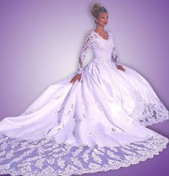 Wedding dresses with sleeves that have elegant designs