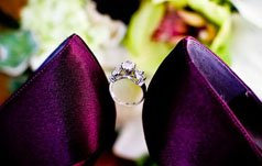 Wedding photography poses with engagement ring