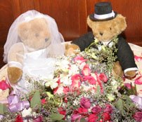 Cute bride and groom teddy bear Centerpieces