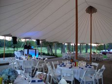 Etiquette at an outdoor wedding reception