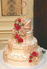 Winter Wedding Reception Ideas Cake Picture