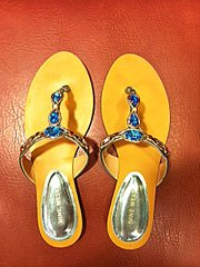 Blue, Crystal Flip Flops for Cheap Wedding Party Gift Ideas