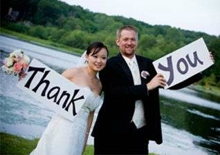 Signs for the wedding party