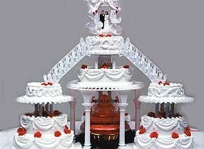 Fountain Wedding Cakes