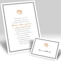 Halloween wedding ideas of pumpkins of wedding invitations