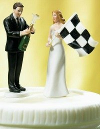 Cake topper for pink wedding cakes