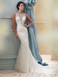 Sexy wedding dresses with peekaboo top