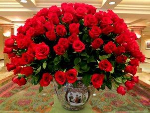 Unique wedding centerpieces dozens of roses