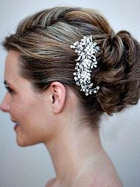 Updo wedding hairstyles with a cllip