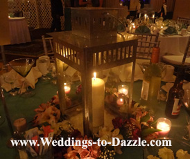 Ideas for inexpensive centerpieces candle in a lantern