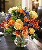 Colored floral arrangement ideas