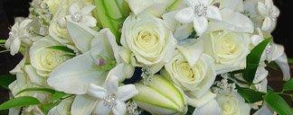 White wedding flower ideas