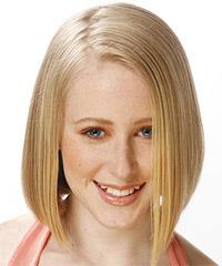 Wedding hairstyles for medium hair worn straight