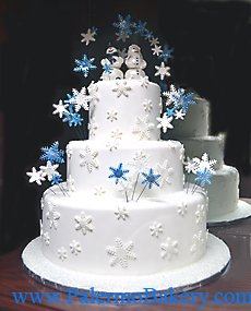 Winter Wedding Cakes Picture